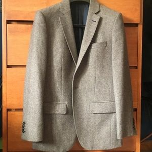 Brown tweed jacket, slim fit